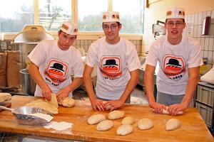 Bäckerlehrlinge der Bäckerei Huth